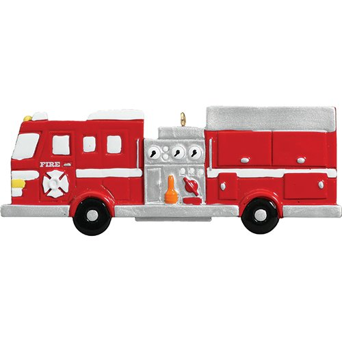 Personalized New Fire Engine Christmas Ornament for Tree 2018 - Red Truck Firefighter Vehicle Incidents Emergency Rescue Driver - Coworker Job Agent Academy Kid Toy Profession - Free Customization