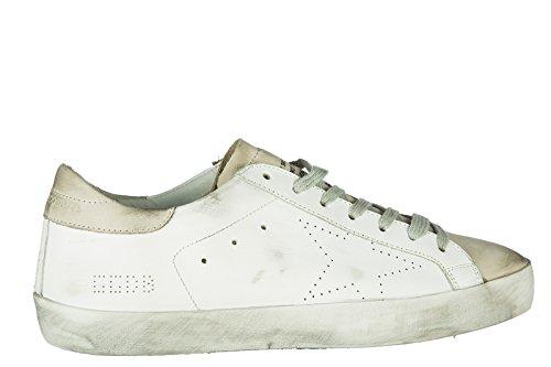 Golden Goose Chaussures Sneakers Homme En Cuir Nouvelle Superstar Blanche