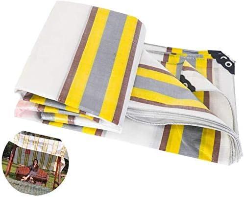 ヘビーデューティ多目的防水ポリターポリンPEタープ裏庭のテラスカバーUV耐性Backyaldカバー車の保護、木材、ボート、ガーデン、キャンプ、アウトドア3.8x4.8m (Color : Yellow, Size : 4.8x11.7m)