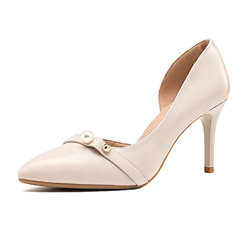38 Beige 5 Femme Chaussures 5cm Hauts Sexy Party WeddingDUSTO Perles EU Talons Noir Mode 5 Cour De Nightclub UK Travail Chaussures 8 URwUr86qx