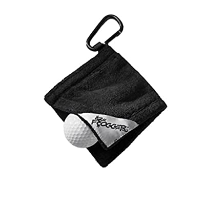 "Frogger Golf Amphibian Ball Towel - Black (4"" x 4"")"