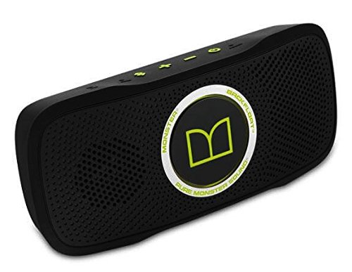 SuperStar BackFloat High Definition Bluetooth Speakers - Black with Neon Green