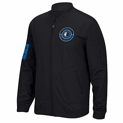 adidas Minnesota Timberwolves NBA Black Originals Full Zip Hardwood Classics Track Jacket Jacket For Men (S)