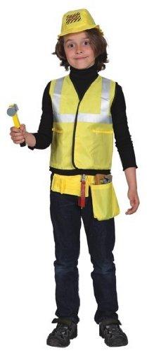 Orlob Zubehor Set Weste Mutze Werkzeug Zu Bauarbeiter Kostum