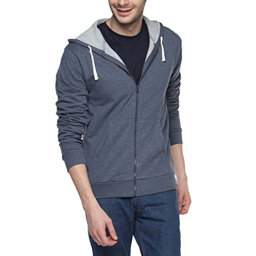 412TxPdLrHL. SS500  - Campus Sutra Men's Cotton Denim Zipper Hoodie