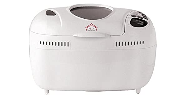 DCG Eltronic XBM538 800W Color blanco - Panificadora (Color blanco, 1,55 kg, 800 W, 420 mm, 250 mm, 240 mm): Amazon.es: Hogar