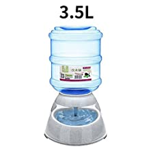 1pc Automatic Pet Food Drink Dispenser Dog Cat Feeder Water Bowl Dish 3.5L Drinking Device