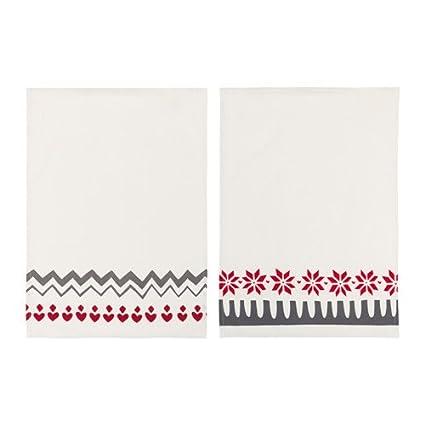 IKEA VINTER 2017 Dish toalla rojo blanco 2 unidades 003.612.71