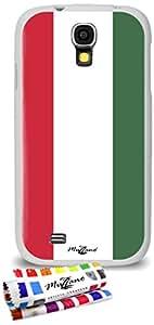 Carcasa Flexible Ultra-Slim SAMSUNG GALAXY S4 ADVANCE de exclusivo motivo [Hungria Bandera] [Blanca] de MUZZANO  + ESTILETE y PAÑO MUZZANO REGALADOS - La Protección Antigolpes ULTIMA, ELEGANTE Y DURADERA para su SAMSUNG GALAXY S4 ADVANCE