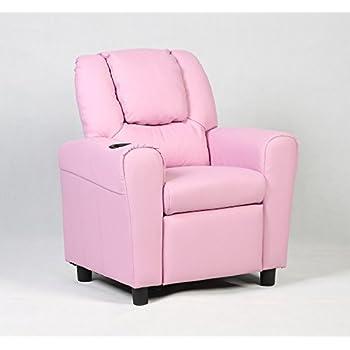 Costzon Children Recliner Kids Sofa Armchair Couch W/Cup Holder (Pink)