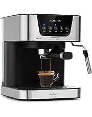 KLARSTEIN Arabica Macchina per Caffè Espresso - 1050 Watt, 15 Bar, Serbatoio Acqua 1,5 L, Display Digitale a LED, Griglia Raccogligocce Lavabile, Serbatoio Acqua Estraibile, Acciaio Inox