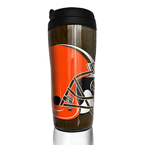 (Marrytiny Custom 12 oz Coffee Cup with Splash Proof Lid Cleveland Browns Double Wall Vacuum Insulated Travel Coffee Mug - Insulated Cup for Hot & Cold Drinks 350ml)
