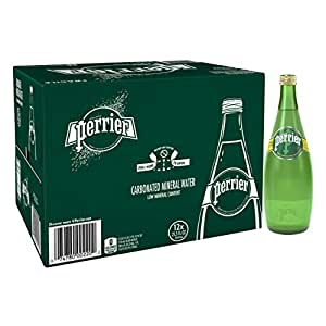 PERRIER Sparkling Natural Mineral Water, 12 x 750 ml