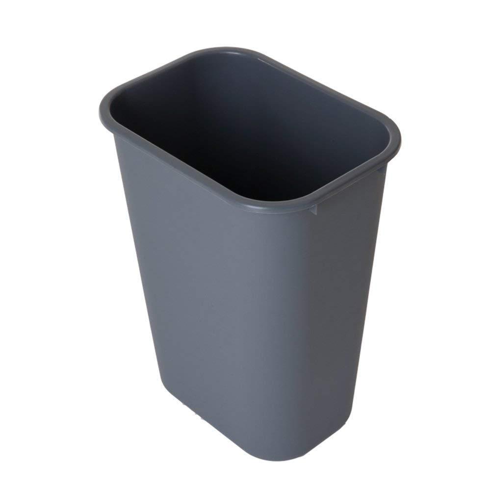 LJT Cocina/Dormitorio / Papelera de Oficina, Wrash Can, [Simple Thickening] Contenedores de Basura rectangulares Contenedores de residuos plásticos [Retardantes] Habitaciones de Hotel Papelera de b