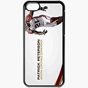 Personalized iPhone 5C Cell phone Case/Cover Skin 14297 patrick peterson 1 sm Black