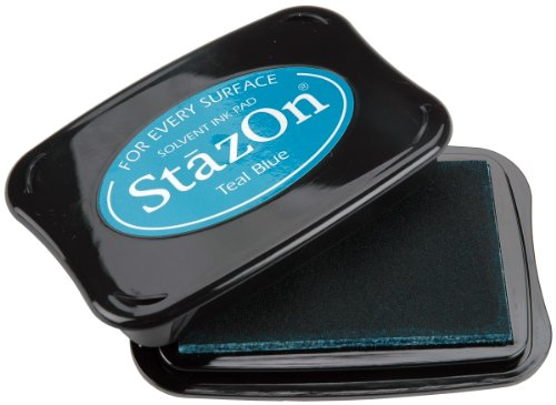 Tsukineko Full-Size StazOn Multi-Surface Inkpad, Teal Blue
