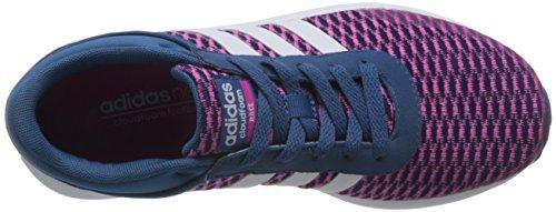 adidas Cloudfoam Race W, Zapatilla de Deporte Baja del Cuello para Mujer Azul (Azubas/ftwbla/rosimp)