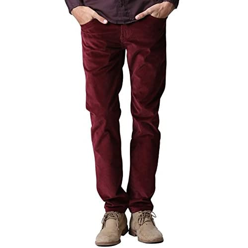 9a816a0f best Match Men's Slim-Tapered Flat Front Casual Corduroy Pants #8052 ...