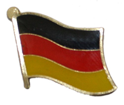 Ted and Jack - Show Your Pride in Your Nation Metal and Ceramic Lapel Pin - (Germany Ceramic)