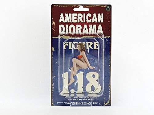 American Diorama November Bikini Calendar Girl Figurine for 1/18 Scale Models