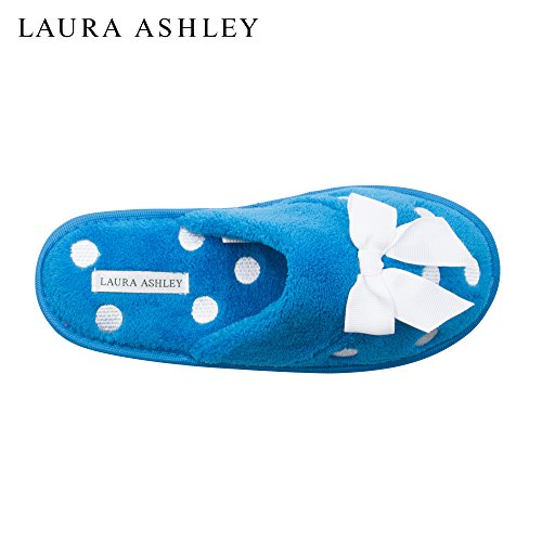 New Terry Blue Embroidered Laura Scuff Soft Ladies Slipper 111 Ashley 8qaIa0