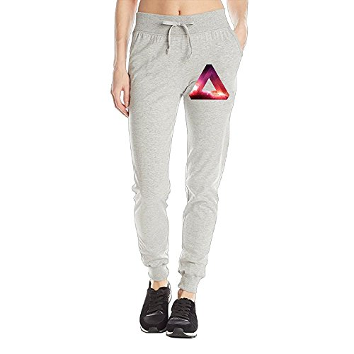 Losport Women's Penrose Triangle 7 Cotton Joggers Pants Slim Fit Bottoms Running Trousers With Pockets L Ash