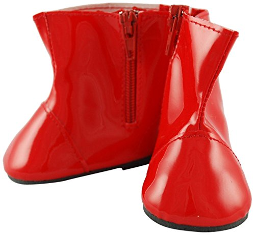 Red Boots with Zipper for 18