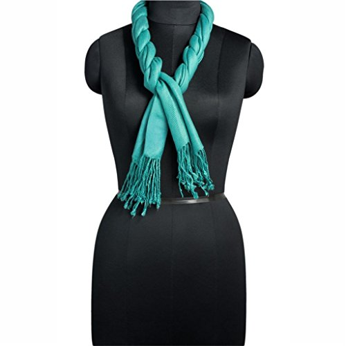 Namaste-USA brings for women Pashmina Viscose Stole in Tiffany Blue Size 70X200 - Usa In Tiffany