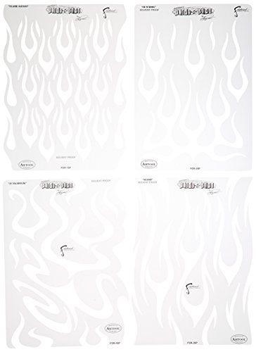 Artool Freehand Airbrush Templates, Flame O'Rama Set ()