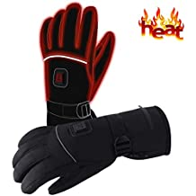 Winter Clothing Rechargeable Electric Heated Gloves Battery Powered Heating Gloves,7.4V Men Women Novelty Thermal Gloves,Waterproof Heat Insulated Touchscreen Sports Outdoor Skiing Camping Handwarmer