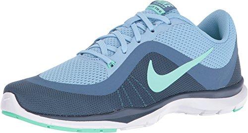- Nike Women's Flex Trainer 6 Running Shoes (12, Blue Cap/Green Glow)