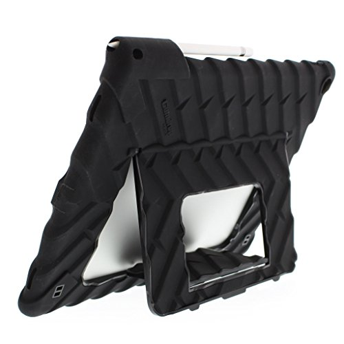 Gumdrop Hideaway Case with Multi-Angle Stand for Apple iPad Pro 12.9 (1st and 2nd Gen) Tablet for K-12 Students, Teachers, Kids - Black, Rugged, Shock Absorbing, Extreme Drop Protection
