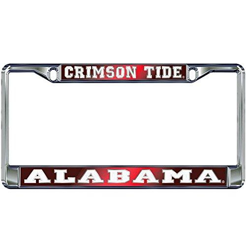 - Alabama Crimson Tide Domed Metal License Plate Frame