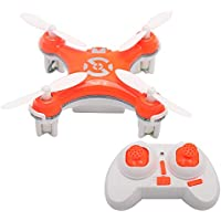 SCASTOE Cheerson CX-10C 2.4G 4CH 6-Axis RC Quadcopter Mini Drone RTF with 0.3MP Camera, Orange