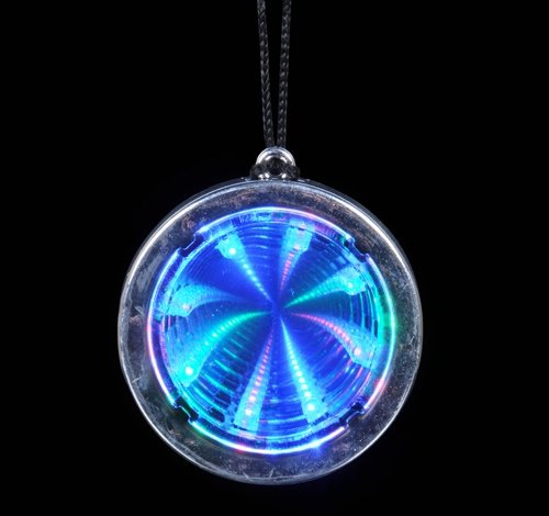 """2.75"""" SUPER FLASHING TUNNEL NECKLACE, Case of 144"""