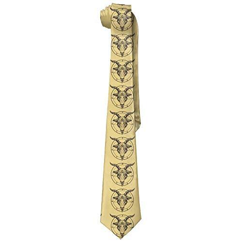 (JOMYY Men's Classic Casual Pentagram Demon Goat Head Skinny Silk Tie Necktie Fashion Gift Weddings Gentleman Groom Business)