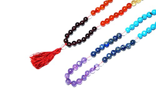 Intérieur Mogul, perles, collier mala tibétain de Prière Bouddhiste, pierres de guérison, Chakra Bijoux pour la méditation