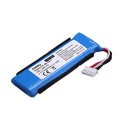 Miady Replacement Battery for JBL Flip 4 and JBL Flip 4 Special Edition, Fits JBL GSP872693 01, 3000mAh 11.1Wh
