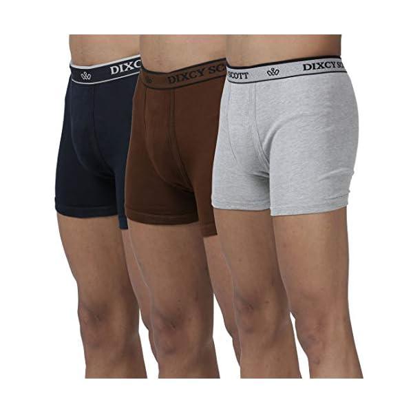 412U1ghHutL Dixcy Scott Men's Trunk Slim Fit Solid Innerwear Pack of 3