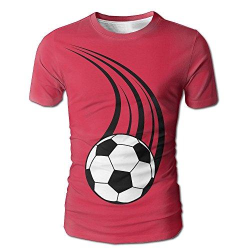Jagjewh Flying Football Men's Round Neck Short Sleeves T-Shirt ()