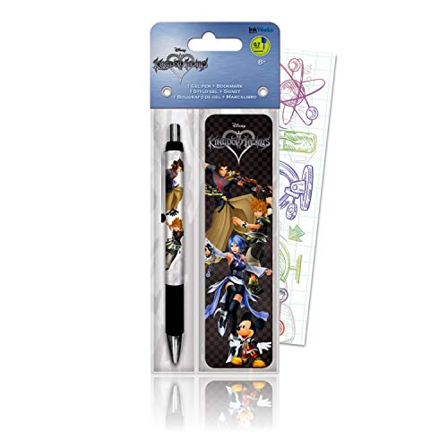 Disney Kingdom Hearts Bookmark Gel Pen Set with Mickey Mouse Bundle Includes 1 Kingdom Hearts Pen and Bookmark with Colorful Fun Separately Licensed GWW Bookmark
