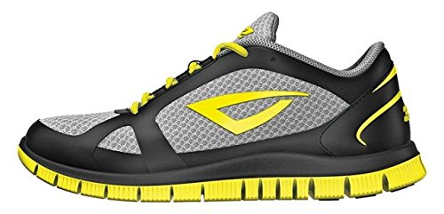 (3N2 Velo Runner Baseball Equipment, Black/Volt Yellow, Size 10)