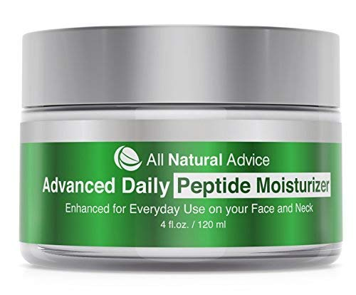 All Natural Advice Daily Moisturizer with Peptide and Hyaluronic Acid   Canadian Made   Organic   Age-Defying Skincare for Face and Neck   Anti-Aging Complex for Natural Skin Tone and Healthy Radiance   120 ml   Double the Size