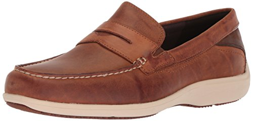 Rockport Men's Aiden Penny Shoe, Caramel, 11.5 W (Rockport Driving Shoes)