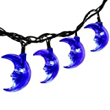 Christmas Best Decoration!!!Kacowpper Solar Moon/Star Shaped lamp Christmas Lights Decoration Outdoor Waterproof Lamp 30LED,Enjoy a Warm Atmosphere
