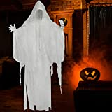 SUPERJARE 66 Inch Halloween Hanging White