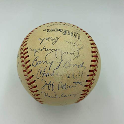 Barry Bonds Pre Rookie 1984 Arizona State Sun Devils Team Signed Baseball - JSA Certified - Autographed Baseballs