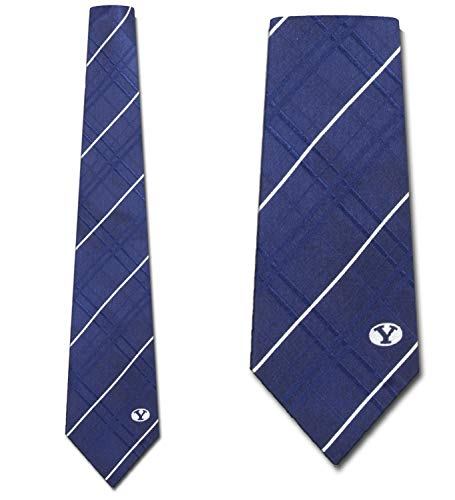 BYU Striped Woven Silk Neck Tie Eagles Wings Striped Tie