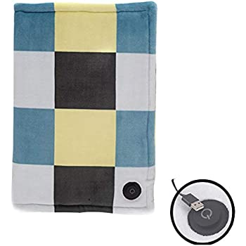 KINGWOLFOX Electric Heated Blanket- USB Heating Pad banket Heated Shawl(Without Adapter, USB Interface)