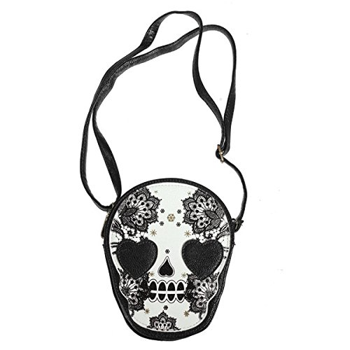 JD Million shop New Bags Women Skull Head Shoulder Crossbody Small Personalized Messenger Bag Handbag Hight Quality Vintage Cute Style 2017 (Yves Saint Laurent Vintage Tie)